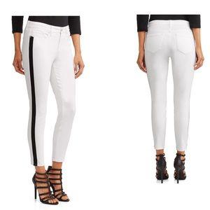 Sofia Jeans- skinny side stripe mid rise ankle